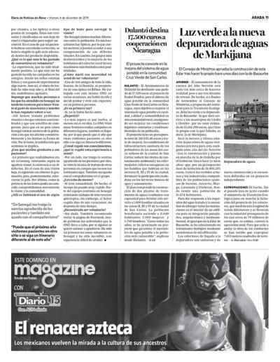 """2019 ENTREVISTA A LA VOLUNTARIA LEIRE AJURIA """"DIARIO DE NOTICIAS DE ÁLAVA"""" (2)"""