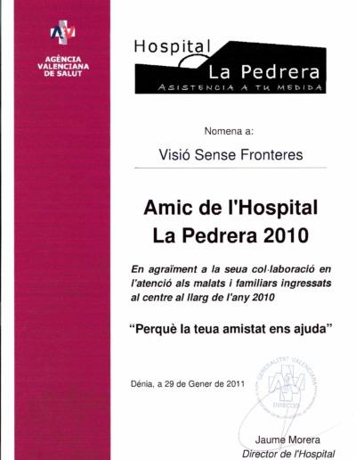 2010 Amics La Pedrera