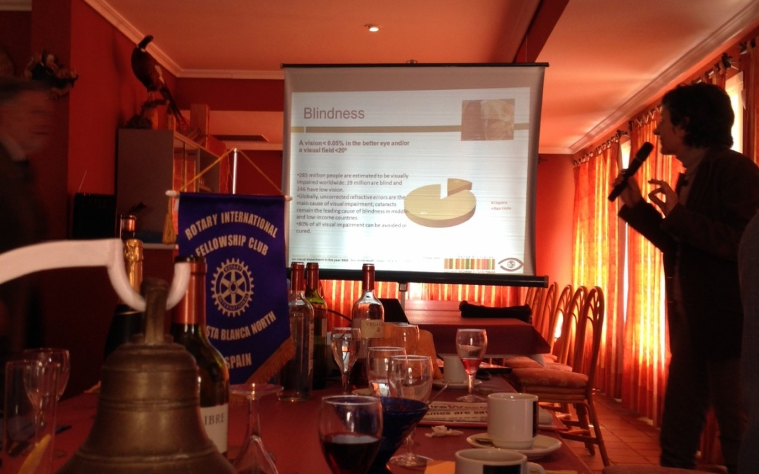 Charla en el Rotary International Fellowship Club de la Costa Blanca en Moraira
