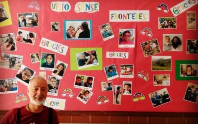 """Mural de agradecimiento en ceip """"Les Arenes"""""""