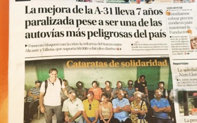Noticia en el diario Información