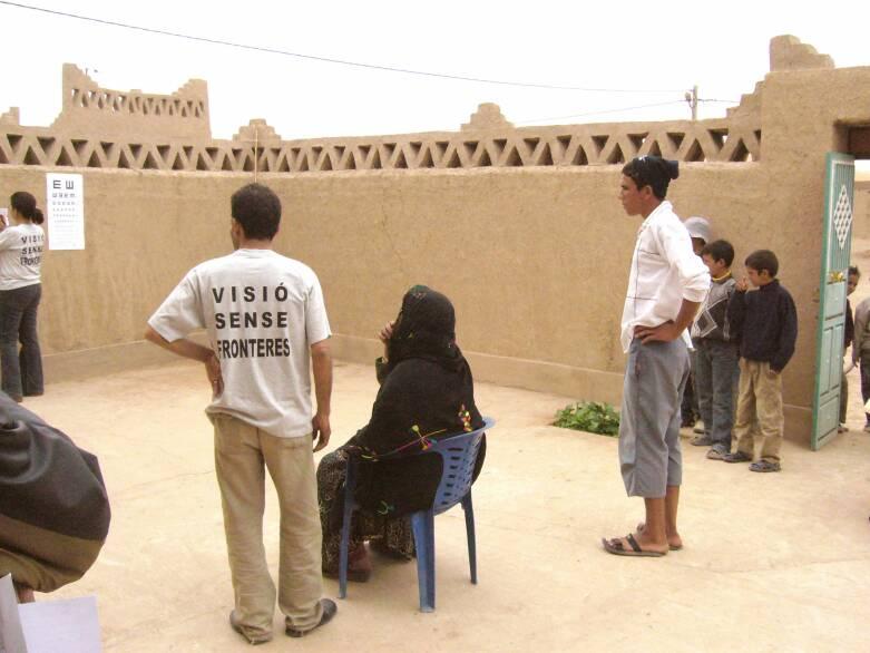 Toma de agudeza visual en campaña Marruecos